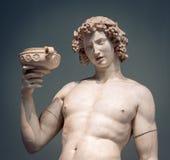Πορτρέτο αγαλμάτων κρασιού Bacchus Dionysus στοκ φωτογραφίες
