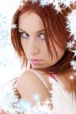 πορτρέτο αγγέλου redhead Στοκ φωτογραφία με δικαίωμα ελεύθερης χρήσης