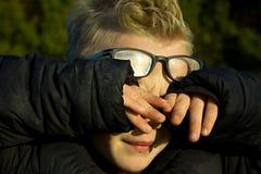πορτρέτο αγοριών λυπημένο Στοκ εικόνα με δικαίωμα ελεύθερης χρήσης