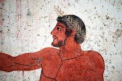 Πορτρέτο αρχαίου Έλληνα Στοκ Εικόνες