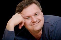 Πορτρέτο ατόμων στο μαύρο υπόβαθρο Στοκ φωτογραφία με δικαίωμα ελεύθερης χρήσης