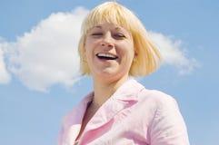 πορτρέτο γέλιου κοριτσι Στοκ Εικόνες