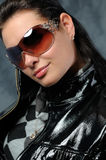 πορτρέτο γυαλιών κοριτσιών μόδας στοκ εικόνα