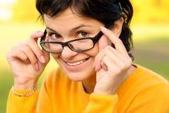 πορτρέτο γυαλιών κοριτσ&iot Στοκ Φωτογραφίες
