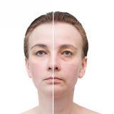 Πορτρέτο γυναίκας. Φροντίδα δέρματος. στοκ εικόνες με δικαίωμα ελεύθερης χρήσης