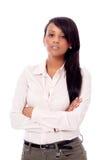 Πορτρέτο γυναικών χαμόγελου νέο αφρικανικό που απομονώνεται Στοκ φωτογραφίες με δικαίωμα ελεύθερης χρήσης