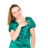 Πορτρέτο γυναικών χαμόγελου νέο ελκυστικό Στοκ φωτογραφία με δικαίωμα ελεύθερης χρήσης