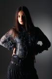 πορτρέτο δαντελλών μόδας &kap στοκ εικόνες με δικαίωμα ελεύθερης χρήσης