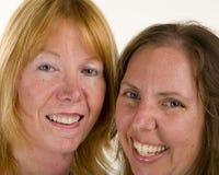 πορτρέτο δύο γυναίκες Στοκ Εικόνες