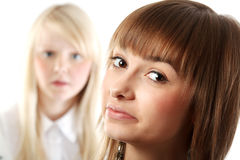 πορτρέτο δύο κοριτσιών στοκ εικόνα με δικαίωμα ελεύθερης χρήσης