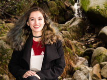 Πορτρέτο ενός έφηβη στη φύση Στοκ Εικόνα