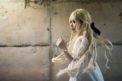 Πορτρέτο ενός ασιατικού κοριτσιού αποκριών Στοκ Εικόνες