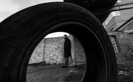 Πορτρέτο ενός ατόμου με μια γενειάδα Στοκ Φωτογραφίες