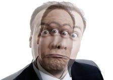 Πορτρέτο ενός ατόμου με μια διανοητική ασθένεια Στοκ φωτογραφία με δικαίωμα ελεύθερης χρήσης