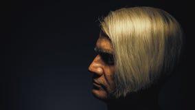 Πορτρέτο ενός ατόμου με το αστείο κούρεμα Στοκ φωτογραφία με δικαίωμα ελεύθερης χρήσης