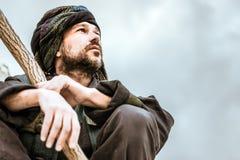 Πορτρέτο ενός ατόμου στο τουρμπάνι Στοκ Εικόνες