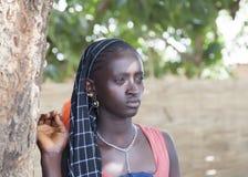 Πορτρέτο ενός αφρικανικού κοριτσιού στοκ φωτογραφίες