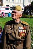 Πορτρέτο ενός βετεράνους πολέμου που φορά πολλά μετάλλια. Στοκ Εικόνα