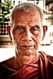 Πορτρέτο ενός βουδιστικού μοναχού Ayutthaya, Ταϊλάνδη στοκ φωτογραφία