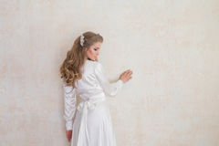 Πορτρέτο ενός ευγενούς κοριτσιού lingerie Στοκ Εικόνες