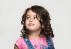 Πορτρέτο ενός ευτυχούς, μικρό κορίτσι Στοκ Εικόνα