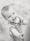 Πορτρέτο ενός ευτυχούς παιδιού μικρών παιδιών Στοκ φωτογραφίες με δικαίωμα ελεύθερης χρήσης