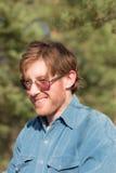 Πορτρέτο ενός εύθυμου ατόμου Στοκ εικόνες με δικαίωμα ελεύθερης χρήσης