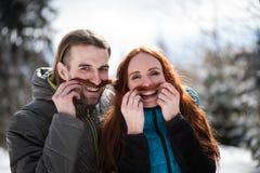 Πορτρέτο ενός εύθυμου ζεύγους που έχει τη διασκέδαση Στοκ Εικόνα