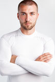 Πορτρέτο ενός ελκυστικού αθλητή Στοκ φωτογραφία με δικαίωμα ελεύθερης χρήσης