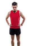 Πορτρέτο ενός ελκυστικού αθλητικού τύπου αθλητών μέσα στοκ εικόνες