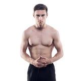 Πορτρέτο ενός ελκυστικού αθλητικού τύπου αθλητών στοκ εικόνες