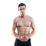 Πορτρέτο ενός ελκυστικού αθλητικού τύπου αθλητών στοκ φωτογραφία με δικαίωμα ελεύθερης χρήσης