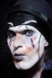 Πορτρέτο ενός θεατρικού δράστη με το σκοτεινό makeup στοκ εικόνες με δικαίωμα ελεύθερης χρήσης