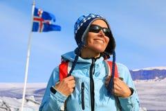 Πορτρέτο ενός θηλυκού τουρίστα Στοκ Εικόνες