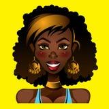 Πορτρέτο ενός θηλυκού αφροαμερικάνων Στοκ φωτογραφία με δικαίωμα ελεύθερης χρήσης