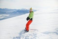 Πορτρέτο ενός θηλυκού snowboarder Στοκ Εικόνες