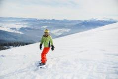 Πορτρέτο ενός θηλυκού snowboarder Στοκ εικόνα με δικαίωμα ελεύθερης χρήσης