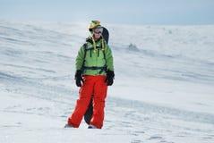Πορτρέτο ενός θηλυκού snowboarder Στοκ εικόνες με δικαίωμα ελεύθερης χρήσης