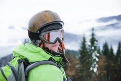 Πορτρέτο ενός θηλυκού snowboarder Στοκ Εικόνα