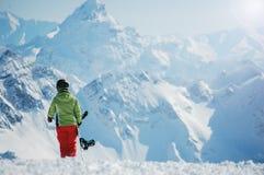 Πορτρέτο ενός θηλυκού snowboarder Στοκ φωτογραφία με δικαίωμα ελεύθερης χρήσης