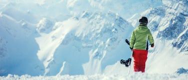 Πορτρέτο ενός θηλυκού snowboarder Στοκ Φωτογραφία