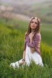 Πορτρέτο ενός ιταλικού κοριτσιού στοκ εικόνα