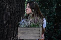 Πορτρέτο ενός κοριτσιού με την ερείκη Στοκ Εικόνες