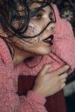 Πορτρέτο ενός κοριτσιού με Στοκ Εικόνες