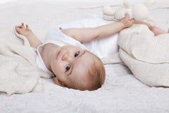 Πορτρέτο ενός κοριτσιού μικρών παιδιών Στοκ Εικόνα