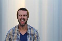 Πορτρέτο ενός κλεισίματος του ματιού hipster Στοκ Εικόνες