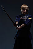Πορτρέτο ενός μαχητή kendo Στοκ Φωτογραφίες
