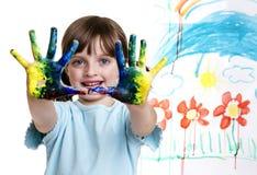 Ευτυχές μικρό κορίτσι με την εικόνα της Στοκ Εικόνες