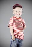 Πορτρέτο ενός νέου αγοριού στο στούντιο Στοκ Εικόνες