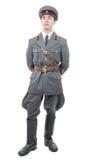 Πορτρέτο ενός νέου ανώτερου υπαλλήλου του σοβιετικού στρατού, που απομονώνεται στο μόριο Στοκ φωτογραφία με δικαίωμα ελεύθερης χρήσης